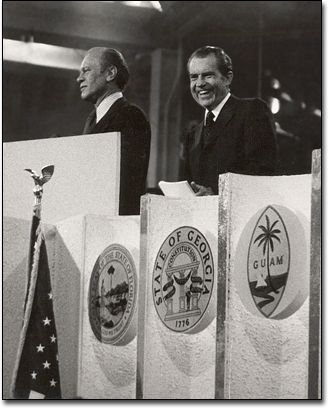 Gerald Ford and Richard Nixon